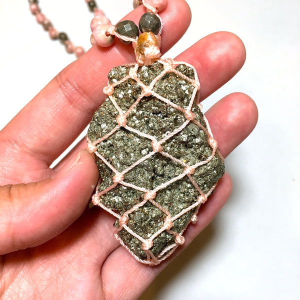 Pyrite Mala Necklace