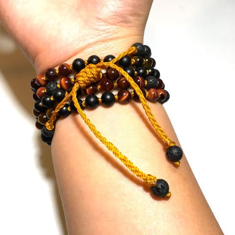 lava beaded bracelet adjustable