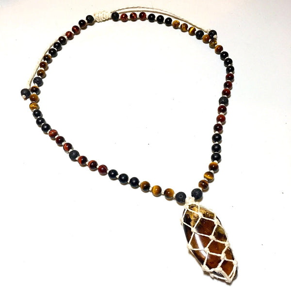 Amber Hemp beaded necklace