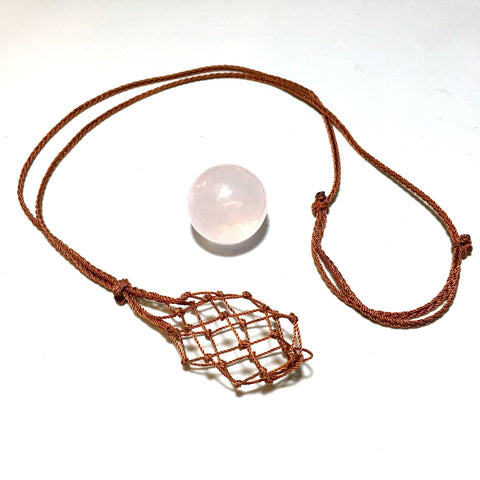 interchangeable knotted stone holder