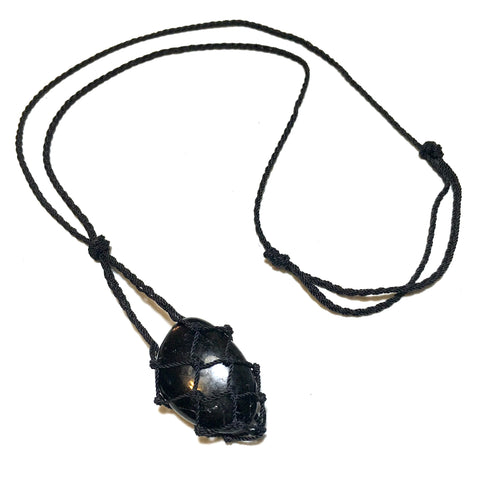 tumbled black tourmaline necklace
