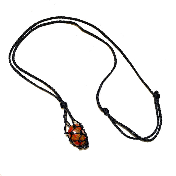 red jasper interchangeable knotted necklace
