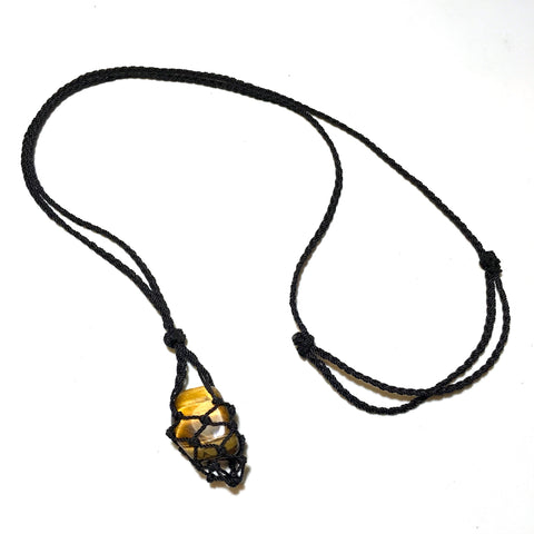 interchangeable stone necklace tiger eye