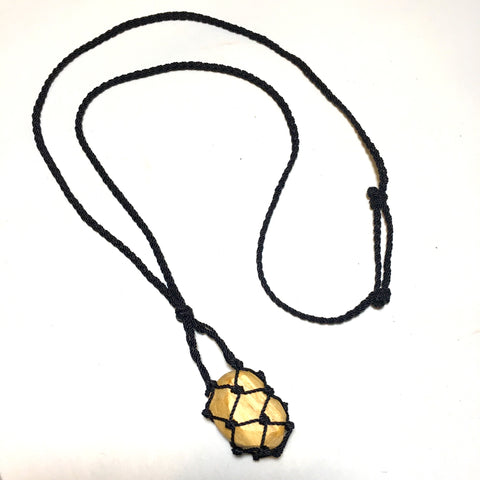Bohemian Knotted Net Necklace
