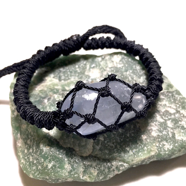 blue stone wrapped bracelet
