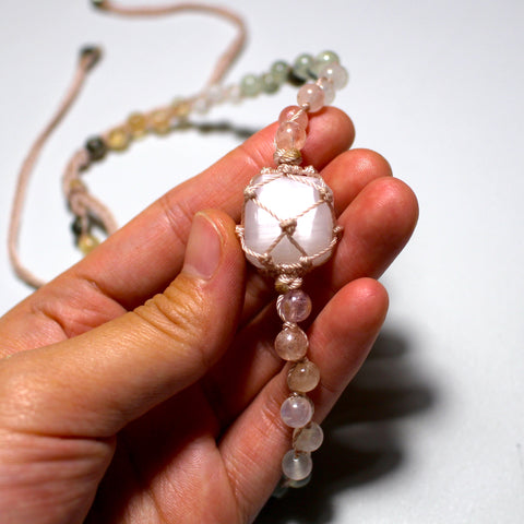 Selenite Beaded Necklace (Choker)