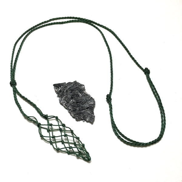 Black Kyanite Necklace