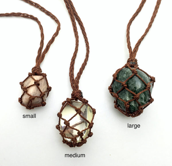 Crystal Macrame Necklace