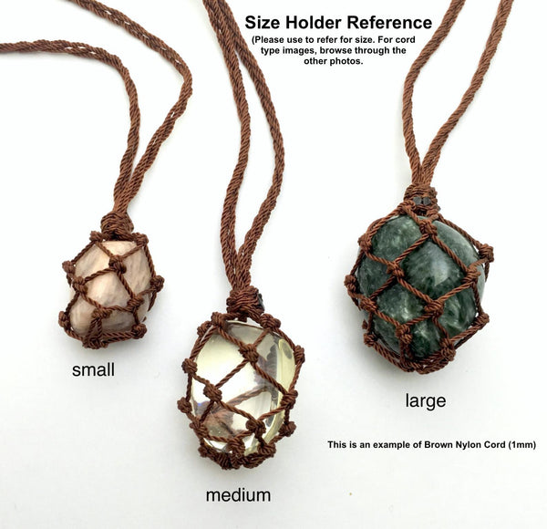Macrame Stone Net Necklace
