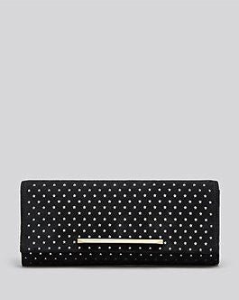 B Brian Atwood Clutch - Ingrid Perforated Black Star Clutch New