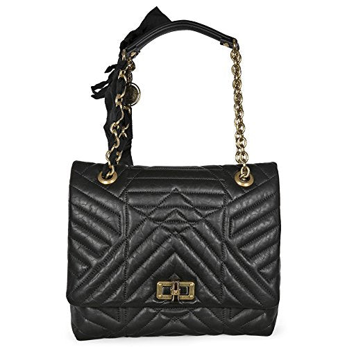 Lanvin Happy Medium Quilted Lambskin Bag - Black