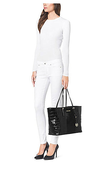 Michael Kors Jet Set Travel Medium Hair Calf and Leather Tote