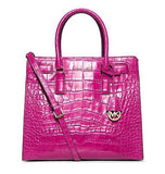 Michael Kors Dillon Large North South Tote in Raspberry Embossed Leather