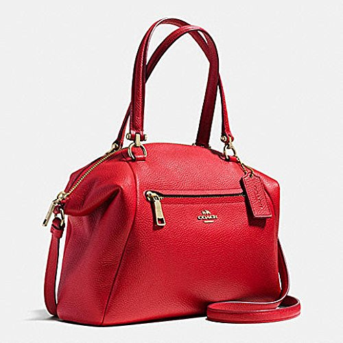 Coach prairie leather handbag bag Style 58874 true red new