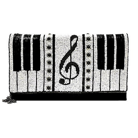 Mary Frances 'Keyed Up' Piano Convertible Clutch, Multi