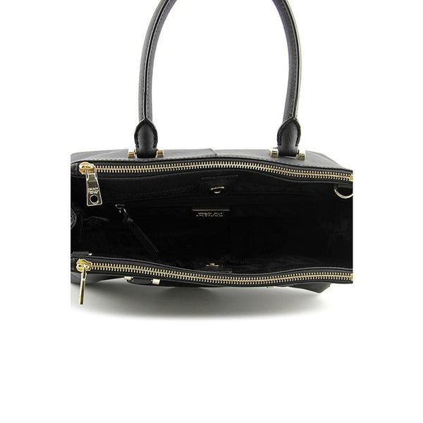 DKNY Bryant Park-Saffiano Womens Black Purse Leather Satchel