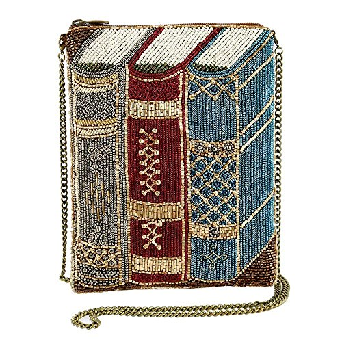 MARY FRANCES Best Seller Beaded Books Mini Crossbody Handbag Bag NEW