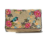 Mary Frances Rose Garden Clutch