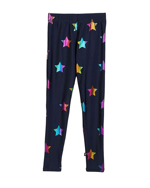 Terez Navy Blue Rainbow Star Multi Legging Leggings Medium USA NY New