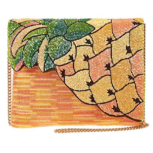 Mary Frances Pineapple Grove Beaded Crossbody Clutch Handbag Purse, Multi