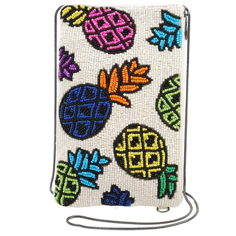 MARY FRANCES Beaded Crossbody Phone Bag (Spiked)