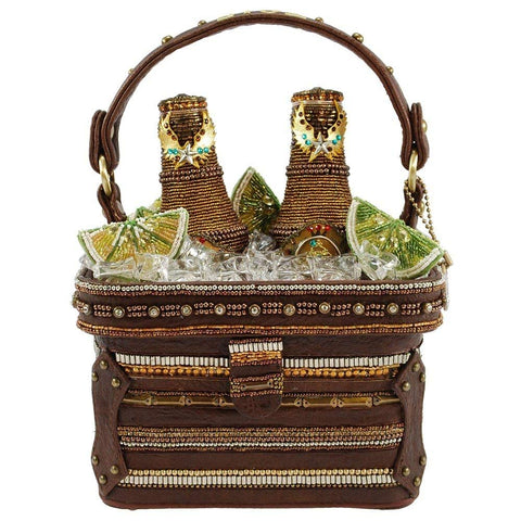Mary Frances a Pint Two Embellished Beer Cooler Novelty Handbag