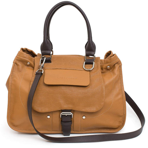 LONGCHAMP Balzane Camel Tan Brown Leather Handbag Purse Saddle NEW Bag