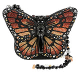 Mary Frances Majestic Monarch Butterfly Beaded Jeweled Handbag Shoulder Bag