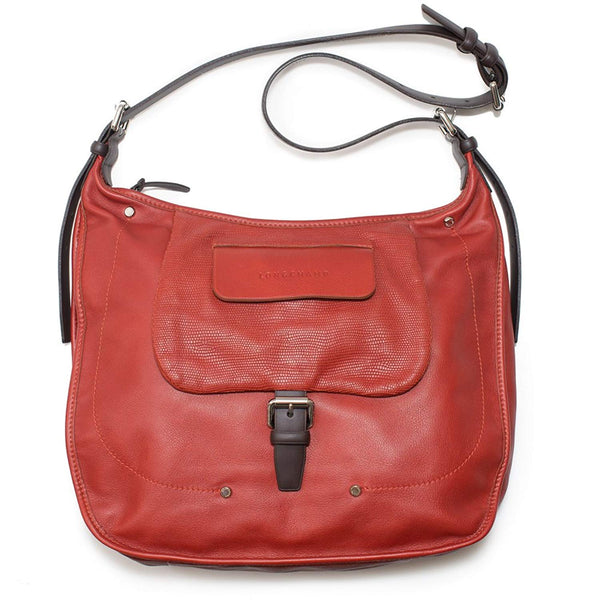 LONGCHAMP Balzane Burgundy Red Hobo Leather Handbag Purse Zipper NEW Bag