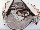 Michael Kors Devon Large Ew Shoulder Tote Genuine Leather Vanilla Rose Gold Bag new