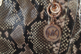 Michael Kors Cynthia SMALL Leather Satchel BLOSSOM/PYTHON