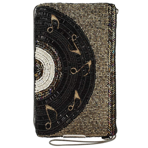 Mary Frances Beaded Music Record Crossbody Phone Bag