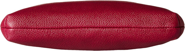 COACH Women's Embossed Textured Leather North/South Swingpack SV/Cyclamen Cross Body