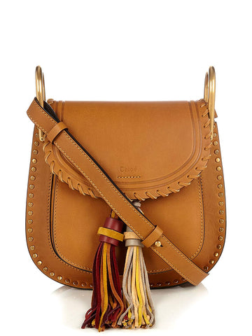 Chloe Mini Bag Mustard Brown Small Hudson Tassles New