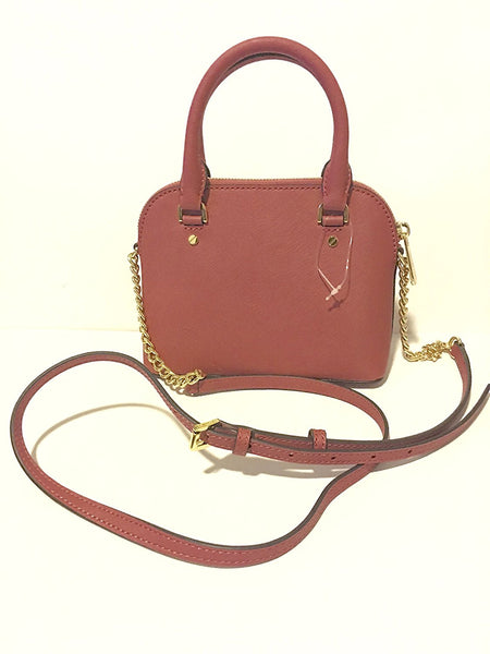 Michael Kors Cindy Mini Crossbody Tulip Pink Leather Bag Handbag Purse