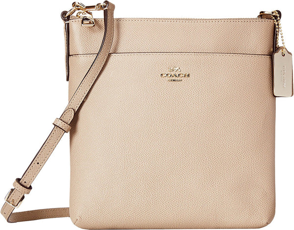 COACH Women's Embossed Textured Leather North/South Swingpack Li/Stone Cross Body