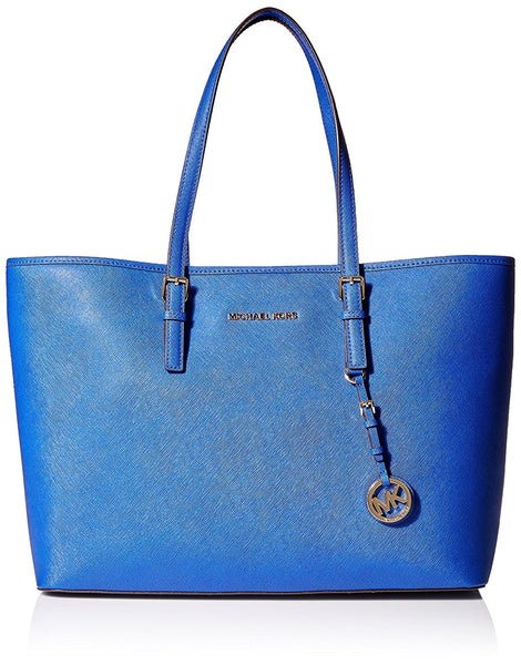 MICHAEL Michael Kors Jet Set Travel Medium Multifunction Tote (Sapphire)