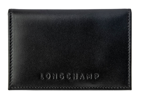 LONGCHAMP Ruban Fold Mens Black Small Bag Le Foulonne Wallet Homme Men NEW