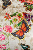 Johnny Was Ecru Holly Butterfly Silk Zipper PILLOW Case Pillowcase 1 multi Color New