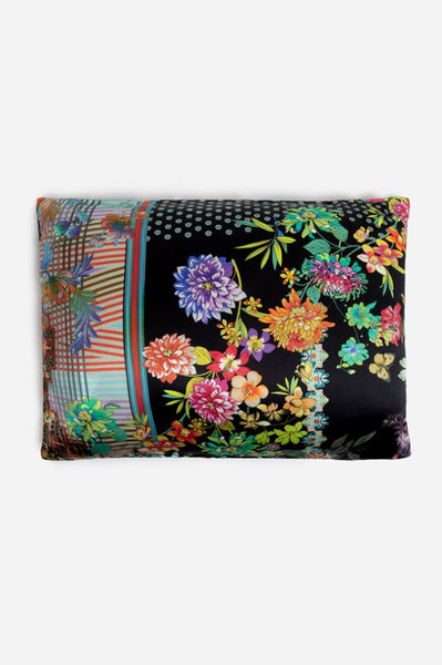 Johnny Was Black Holly Butterfly Silk Zipper PILLOW Case Pillowcase 1 multi Color New