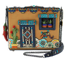 Mary Frances Adobe Embellished Western Theme Novelty Handbag New
