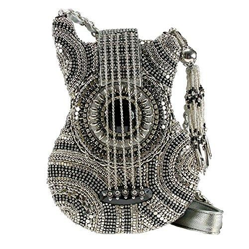Mary Frances on Tour Silver Guitar Beaded Handbag Bag New