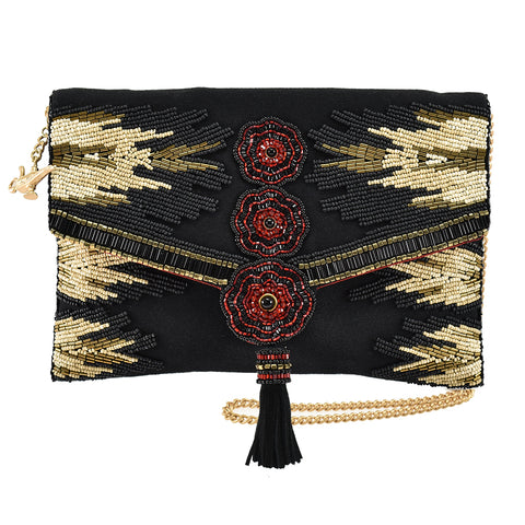 Mary Frances All Powerful Black Red Gold Handbag Disney Jafar Aladdin Handbag NW
