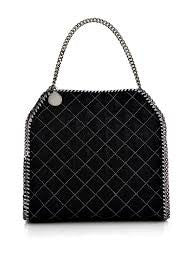 Stella McCartney Authentic faux handbag falabella new black silver new