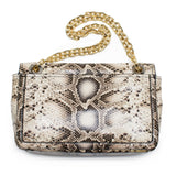 Tory Burch Elise Snake Shoulder Bag Natural Ivory NEW