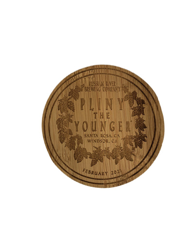 2021 Pliny the Younger Wooden Coaster