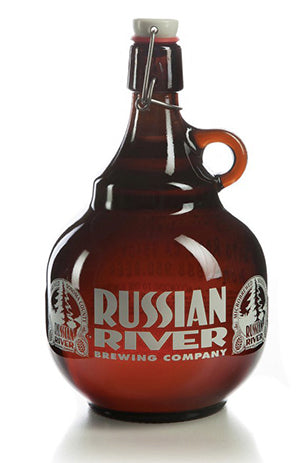 Russian River 2 Liter Glass Growler