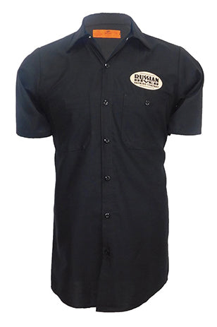 Happy Hops Work Shirt- Black* Embroidered Detail