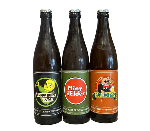 Bottles Pliny the Elder/Happy Hops/Blind Pig mixed 12pk 510 ML *SHIPPING IN CA ONLY*