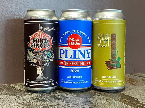 CANS Pliny for President/Mind Circus/Scratching Post 16 pk Case **SHIPPING IN CA ONLY**